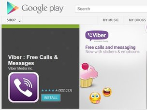 Viber in Google Play
