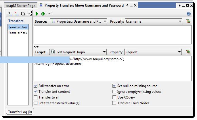 Transferencia de propiedades mediante paso en un caso de test