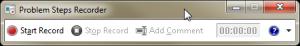 Ventana Inicial Grabación Acciones de Usuario