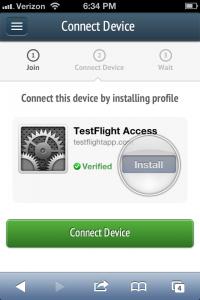 Testflight en el terminal