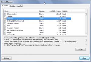 Comparar archivos de texto con Notepad++