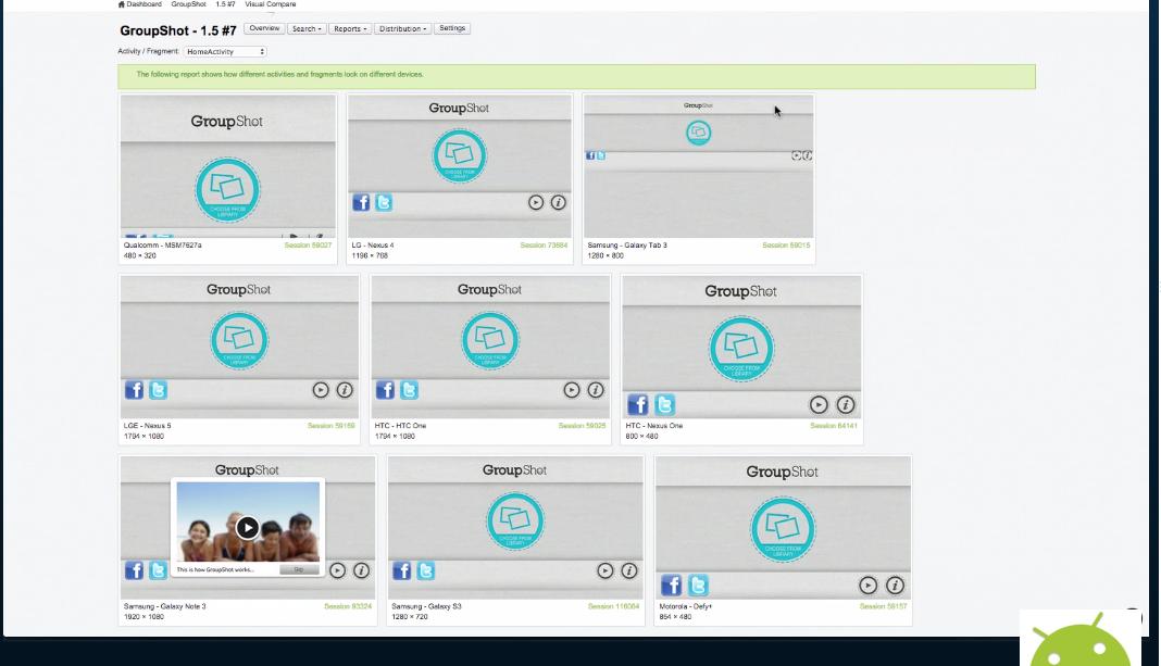 Vista de la aplicación en distintos dispositivos
