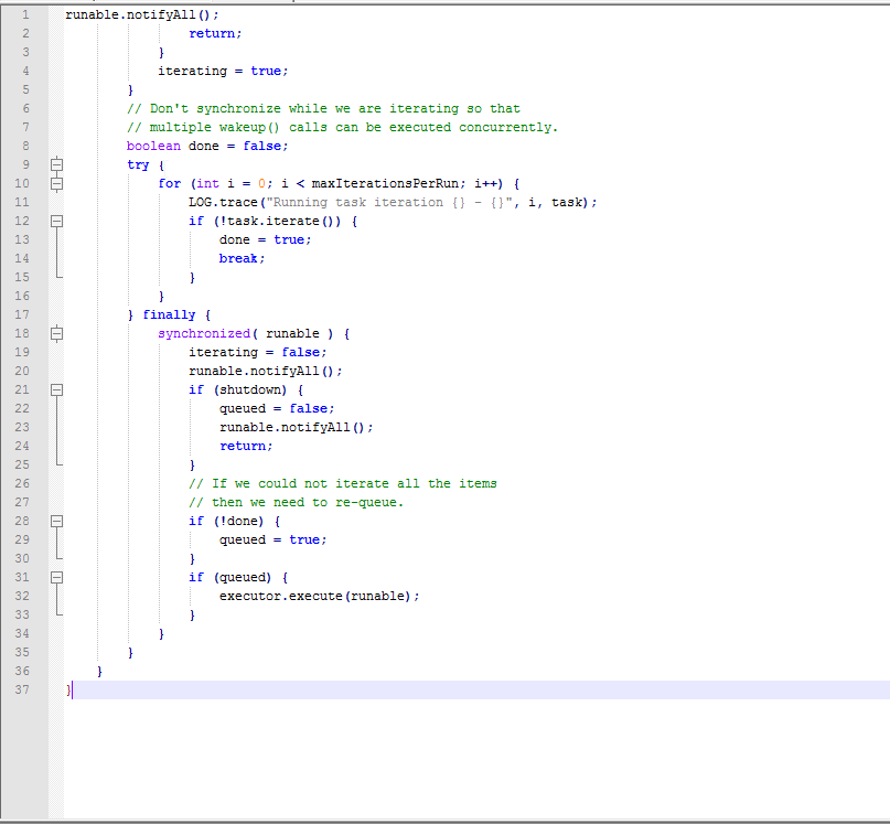 Código fuente antes de SonarQube