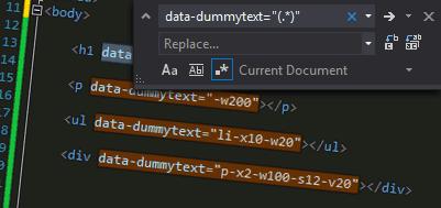 Replace in Visual Studio