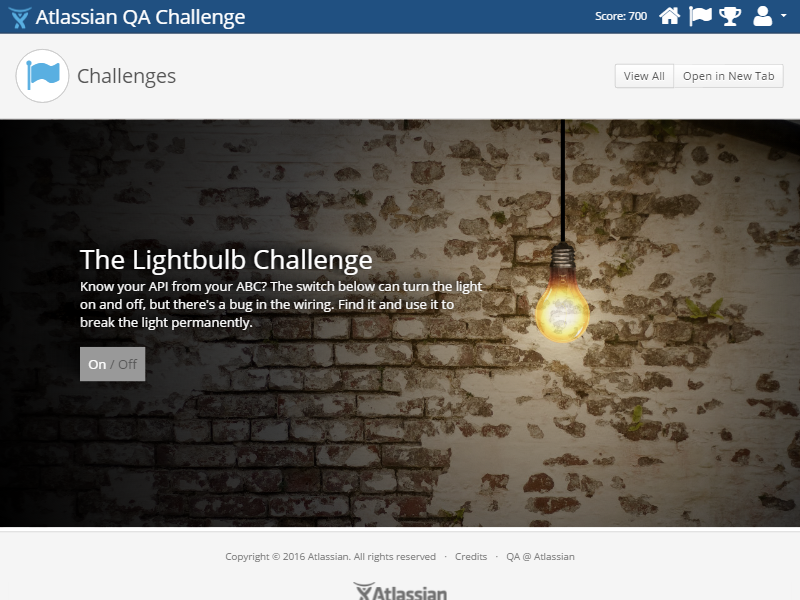 The Lightbulb Challenge