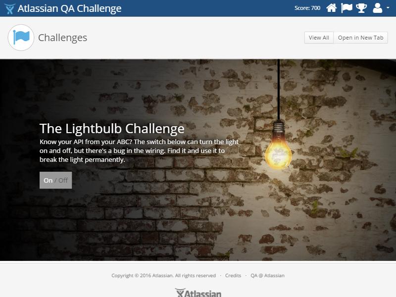 The Lightbulb Challenge