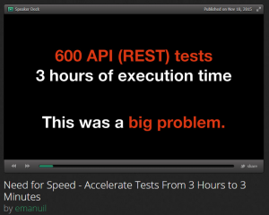 Need for Speed - Accelerate Tests From 3 Hours to 3 Minutes