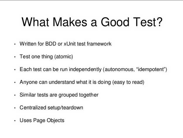 What makes a good test?