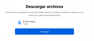 Descarga desde FirefoxSend