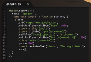 Ejemplo uso Nightwatch.js con Chance y Faker
